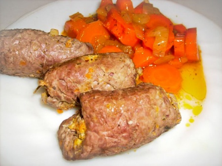 حلويات اللحم مع الأشجار