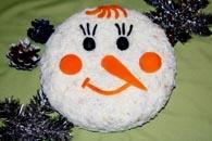 Muñeco de nieve ensalada