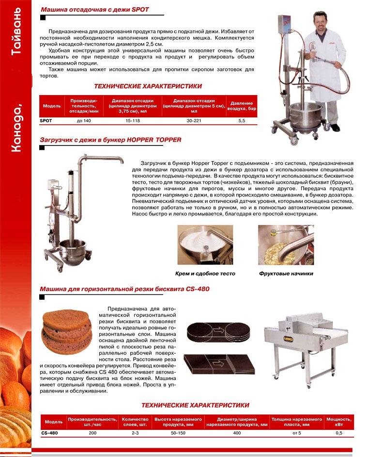 Оборудование для произодства тортов