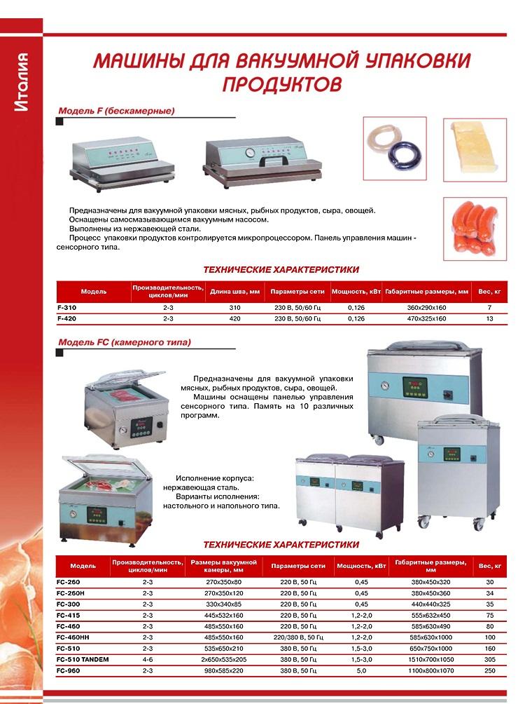 Машины для вакуумной упаковки продуктов