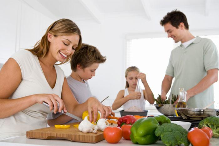 Organizada de forma correcta poder en la familia