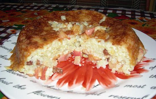 الأرز الجدة مع التفاح