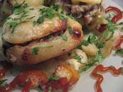 البطاطا المخبوزة مع المدخن سالوم