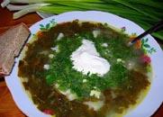 حساء البطاطا مع حميض.