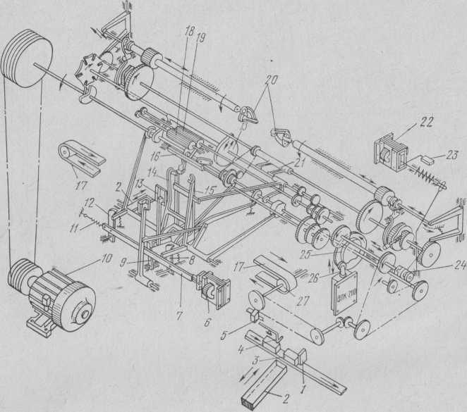 Структурная кинематическая схема автомата ЗКЦА