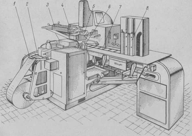 Semiautomatic K-467 for wrapping biscuits into packs