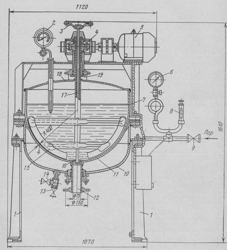 digestor Irreversible 28-A con un agitador mecánico.