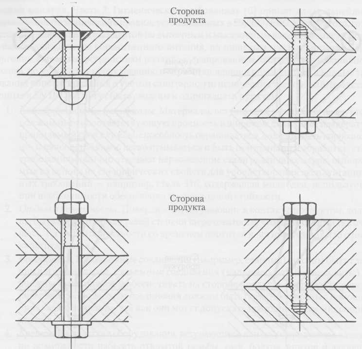 Примеры гигиенического крепежа