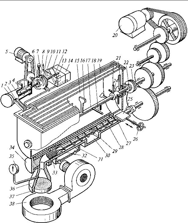 Рис. 4.1. Схема макаронного пресса ЛПЛ 2М