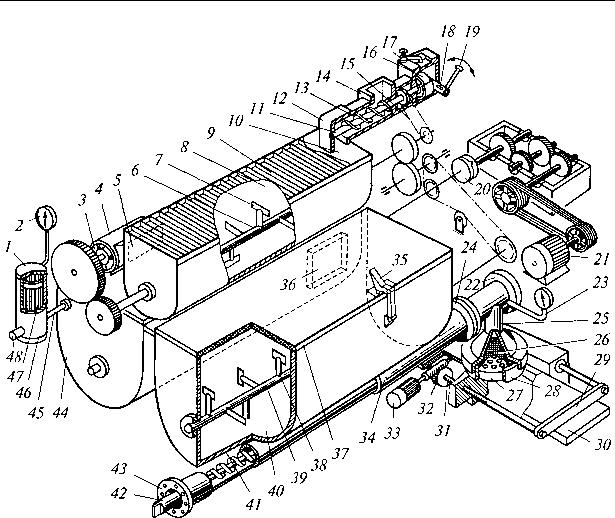 Рис. 4.3. Схема макаронного пресса ЛПШ 500
