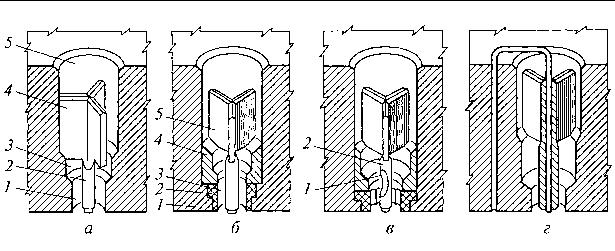 La figura 4.8. Formando elementos de pasta muere de varios diseños.