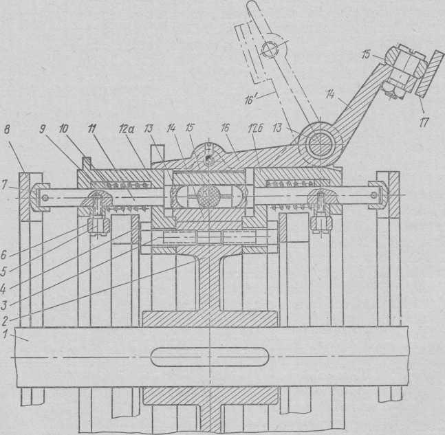 Máquina rotativa de estampagem de caramelo ShKR (seção esquemática do rotor).